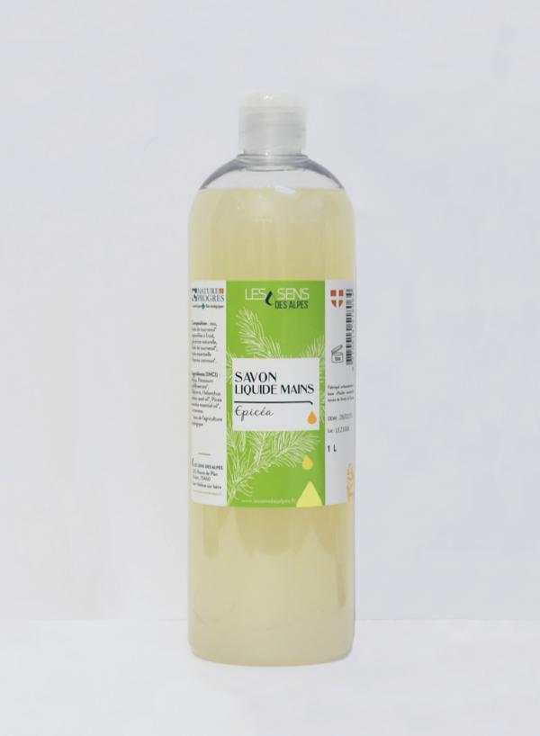 Flacon Savon Liquide Mains Epicea Bio 1 Litre